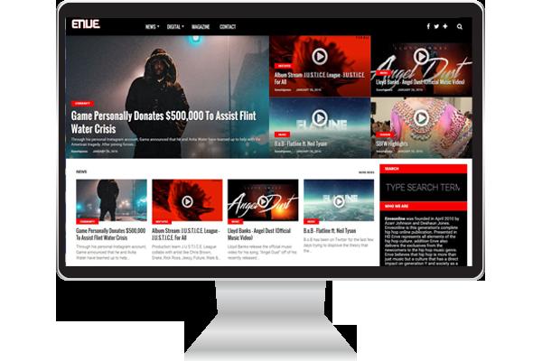 Enveonline Hip-Hop Website